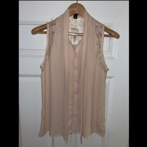 Light pink lace blouse